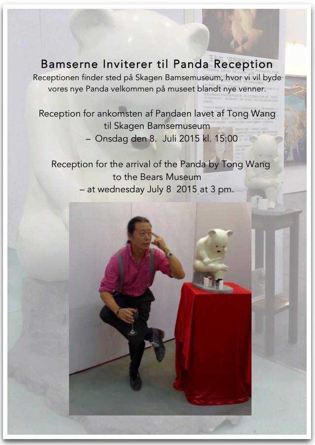 Invitation til reception for Tong Wang´s panda